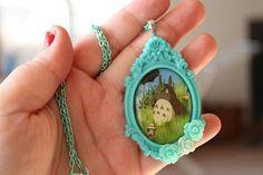 Totoro Tribute  My Neighbor Totoro Necklace by GlitzCouture, $18.50