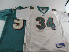 e786c93d3 2 Miami Dolphins NFL Jerseys Jason Taylor HOF Ricky Williams Youth L 14 16  Sewn  NikeReebok  MiamiDolphins