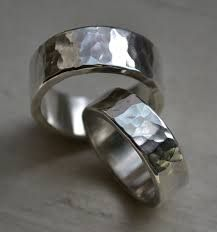 Image result for beaten silver bands