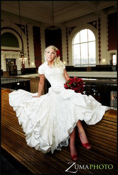 Winter Princess - Modest Wedding Gown