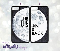 To the Moon and back Couples Lovers Best Friends by WiuwiuDesign