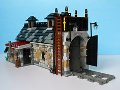 Lego engine shed #engine #train Chaotic wall reference