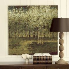 Many places this could work in my home - living room, dining room, kitchen (after the remodel), upstairs hallway. Love! Birch Grove Giclee Print | Ballard Designs