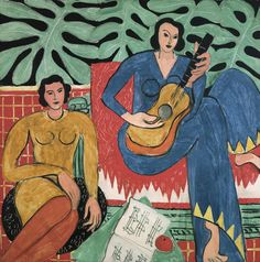 Henri Matisse -  La Musique  (oil on canvas, 1939)