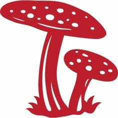 Silhouette Design Store - View Design #68187: mushrooms