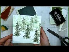 Creating Snowbanks and Snowball Sponging Effects - Helpful Stamping Tips - Creating Snowbanks and Snowball Sponging Effects Lovely As A Tree stamp used here - Card Making Tips, Card Making Tutorials, Card Making Techniques, Holiday Cards, Christmas Cards, Christmas Train, Tampons, Winter Cards, Creative Cards