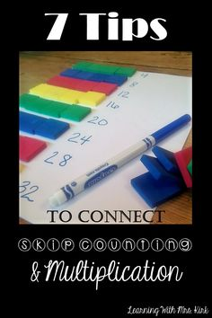 Looking for ideas to help your students master skip counting and multiplication? Here are hands on, fun, engaging ideas. Multiplication Activities, Math Activities, Fun Math, Division Activities, Easy Math, Teaching Math, Teaching Tips, Creative Teaching, Special Education Math