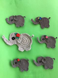 Get this free crochet pattern of a crochet baby elephant. This and many other crochet animals are available on my website, Kerri's Crochet. #FreeCrochetPatterns #CrochetElephant #CrochetAnimals
