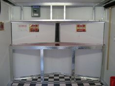Superieur Aluminum Race Trailer Cabinets