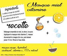 Masque visage miel vitamine C