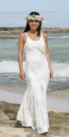 2019 year lifestyle- Beach hawaiian wedding dresses