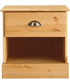 Pine bedside chest