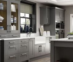 Wickes tiverton slate kitchen with granite worktops for Wickes kitchen designs