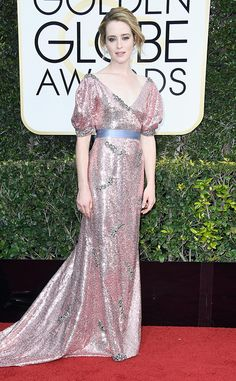 Claire Foy from 2017 Golden Globes Red Carpet Arrivals