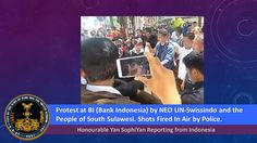 NEO SWISSINDO Protest at BI and Shots Fired In Air by Police