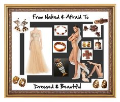 Naked & Afraid by brightgems on Polyvore and etsy featuring Nude fashions and jewelry  Sarah Coventry, Napier, women's fashion,