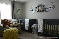twin nursery ideas | Top priority in setting up the twin's nursery is storage. When ...