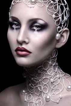"""""""Lace"""" on Makeup Arts Served / make-up: Irina Jensen / photo & retouch: Natalia Pipkina. Makeup Inspo, Beauty Makeup, Eye Makeup, Hair Makeup, Makeup Ideas, Glamour Makeup, Makeup Trends, Maquillage Halloween, Halloween Makeup"""