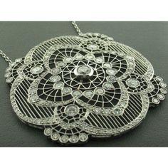 Vintage Diamond Floral Necklace