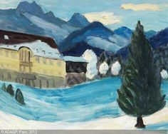 gabriel munter images | Schloss Elmau im Winter sold by Ketterer Kunst, München, on Saturday ...