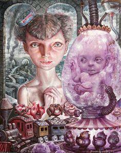 leslie ditto - Buscar con Google Dark Sense Of Humor, Detailed Paintings, Lowbrow Art, Pop Surrealism, Weird Art, Dieselpunk, Macabre, Game Art, Oil On Canvas