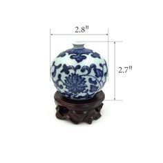 Amazon.com - Jsaron Home Oriental Decor Chinese Blue and White Porcelain Bottle Vase, 5 Pcs in 1 set -