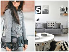 Cinza mescla: fashion x decor #fashion #cinza #grey #decor #casadasamigas
