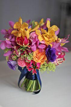 colored exotique bouquet
