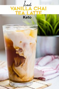 The BEST Asian Low-Carb/Keto recipe for homemade Iced Vanilla Chai Tea Latte. Enjoy the taste of this drinks at only Net Carb / Serving. Step by step directions with pictures makes this recipe… Chia Tea Latte Recipe, Chaï Tea Latte, Iced Latte, Starbucks Chai Tea Latte Recipe, Starbucks Vanilla Chai Latte Recipe, Chi Latte Recipe, Chai Coffee Recipe, Spiced Chai Latte Recipe, Homemade Starbucks Recipes