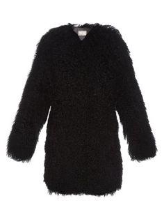 Collarless long-haired shearling coat | Yves Salomon | MATCHESFASHION.COM US