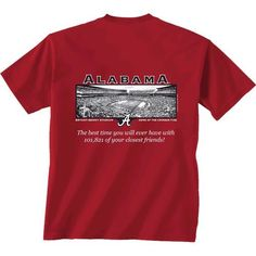 New World Graphics Men's University of Alabama Friends Stadium T-shirt