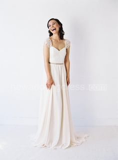 US$138.39-Two-Toned Sweetheart Neck Pleated Chiffon and Lace Wedding Dress With Sleeves. http://www.newadoringdress.com/two-toned-sweetheart-neck-pleated-chiffon-wedding-dress-with-delicate-lace-sleeves-pET_711572.html. Explore our best wedding dresses & gowns, wedding reception dress collection NewAdoringDress 2016 dress style collection. Free custom-made of any dress design & Free Shipping! #weddingdress #NewAdoringDress.com