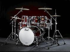 Acoustic Drum Set, Drums Wallpaper, Pearl Drums, Famous Musicians, Music Aesthetic, Custom Guitars, Gibson Les Paul, Drum Kits, Music Stuff