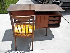 #VINTAGE DESK $799.95 Danish Modern made by Hooker with chair