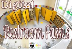 Digital Restroom Passes Time stamp every time a child leaves the room!