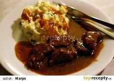 Hovězí přední na divoko recept - TopRecepty.cz Beef, Recipes, Food, Meat, Rezepte, Food Recipes, Ox, Ground Beef, Meals