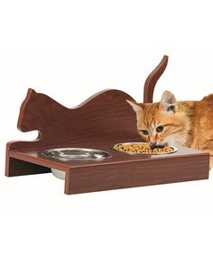 Wooden Cat Feeder by Etna Products #zulily #zulilyfinds
