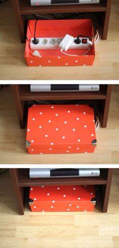 Caixa para guardar gadgets carregando
