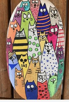 painted rock So Many Cats