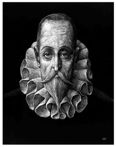 Caricatura de Cervantes, por Ricardo. 90 de 100. Newspaper Design, Graphic Art, Skull, Culture, Illustration, Entertainment, Blog, Paper, Miguel De Cervantes
