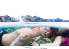 Engagement photography hawaii Underwater