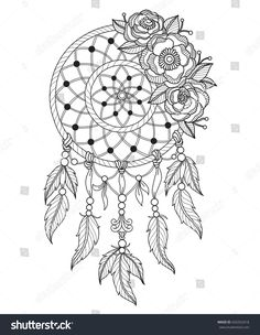 226 Best Dream Catcher Coloring Pages Images Dream