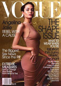 Vogue US April 2002 - Angelina Jolie