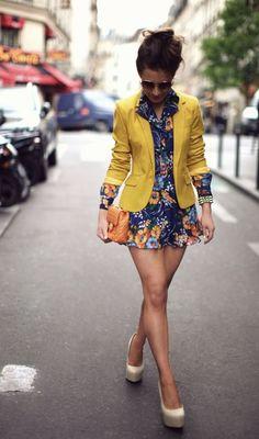 ropa floreada