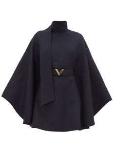 Women's Designer Clothing Capes For Women, Clothes For Women, Navy Mini Dresses, Cape Designs, Looks Street Style, Kpop Fashion Outfits, Cute Casual Outfits, Dress To Impress, Valentino