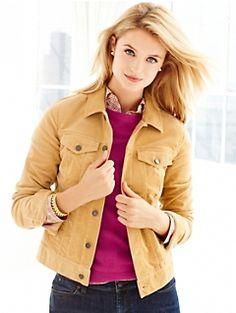 Classic Cord Jacket and Jeans #Talbots #Fall Talbots Renaissance at Colony Park  601.856.3435  #shoprenaissance