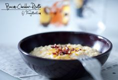 Cheddar, Risotto Speck, Oatmeal, Bacon, Php, Breakfast, Risotto Recipes, Kochen, Food Food