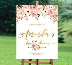 Bridal Shower Welcome Sign, Bridal Shower sign, Bridal Shower decoration, PRINTABLE Welcome sign, Bridal Brunch Sign, Bridal Tea Sign