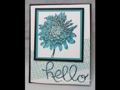 ▶card making video ... Stampin' Up! ...  Drywall Tape with Blendabilities - YouTube ... use what you have at home!