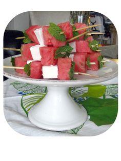 Martha Stewart Baby Shower Ideas | Kate's Plate: Watermelon Ricotta Salata Skewers
